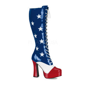 Shoes - Cosplay Platform Lace Up Knee High Boots Superhero